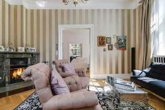 Villa i Ryvang med lækker stue med pejs
