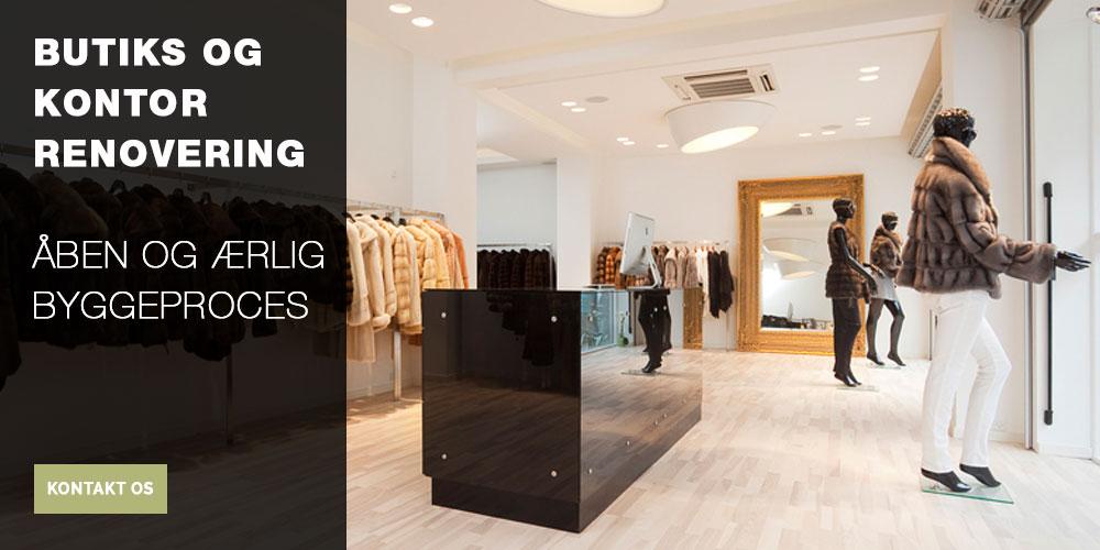 butiks og kontrorrenovering