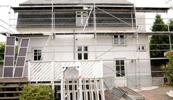 facade og tagrenovering i søborg
